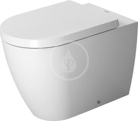 Duravit ME by Starck - Stojací klozet, 370 mmx600 mm, biely – s hlbokým splachovaním 4,5 l