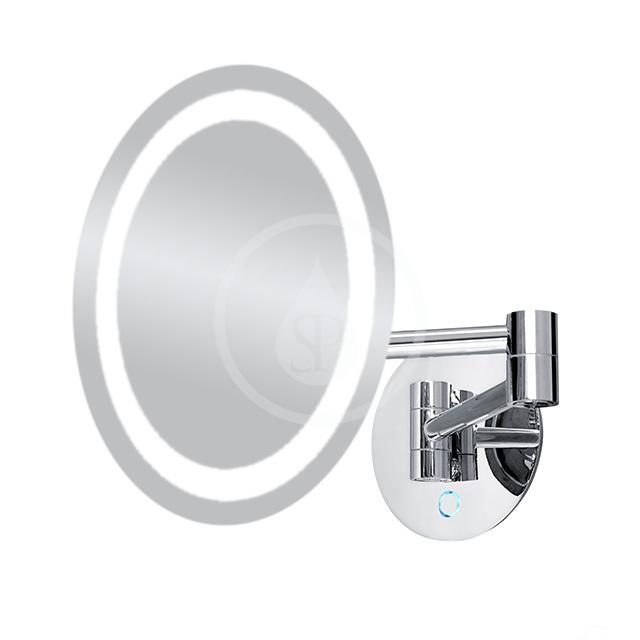 Nimco Kozmetické zrkadlá - Kozmetické zrkadlo nástenné s LED osvetlením, chróm